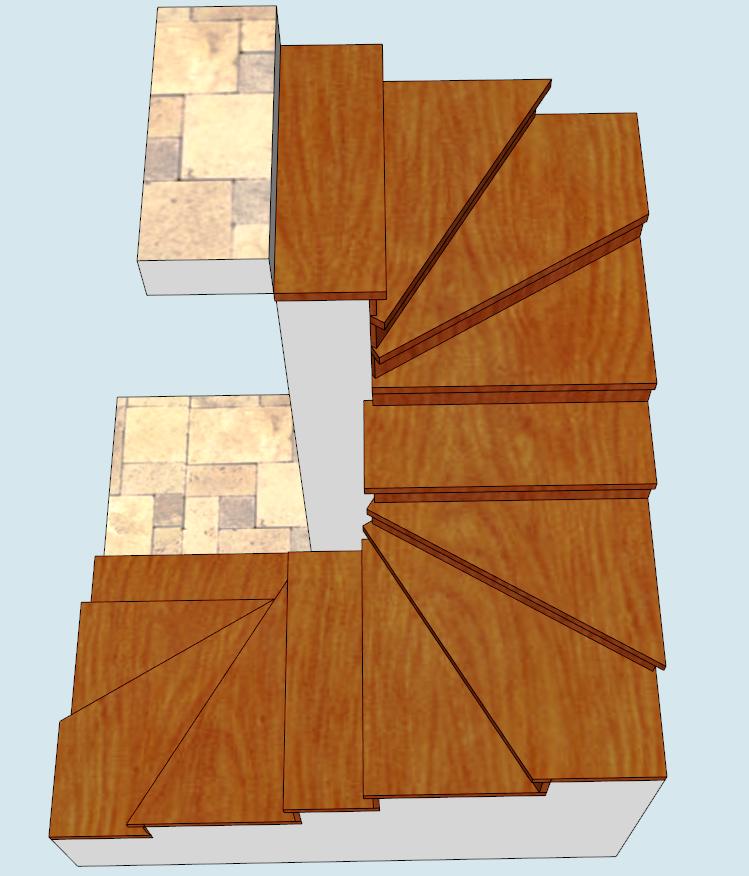 Обшивка лестницы из бетона: забежная, винтовая. «БУК»